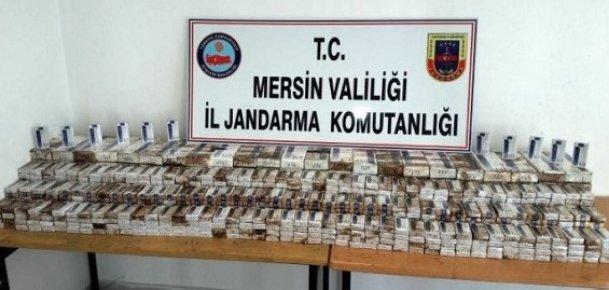 Mersin'de Yanan Tırda Kaçak Sigara Çıktı