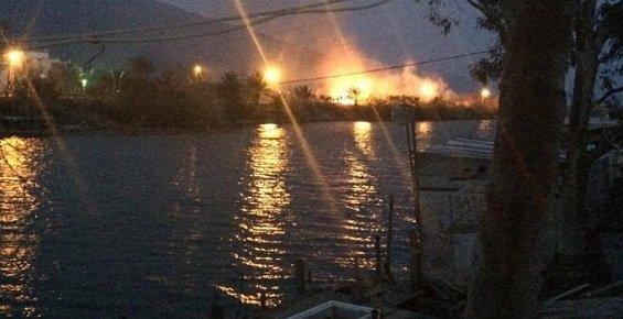 Mersin'de Yangın Paniği