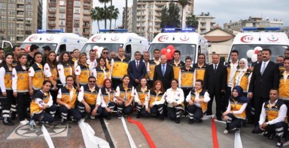 Mersin'de Yeni 12 Ambulans Hizmete Başladı