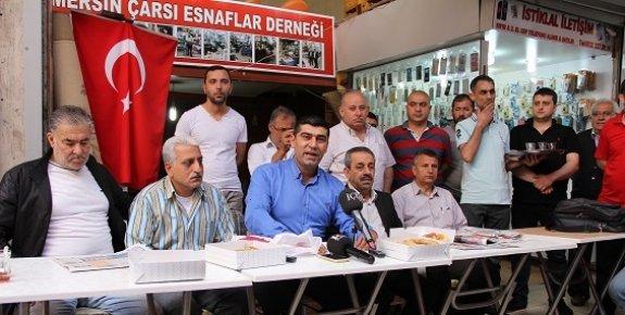 Mersin'de Zafer Çarşısı Esnafından Kurvaziyer Tepkisi