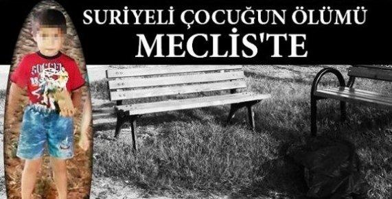 Mersin'deki Çoçuk Cinayeti Meclise Taşındı