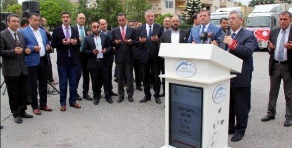 Mersin'den El Bab ve Cerablus'a 12 Tır Eğitim Yardımı