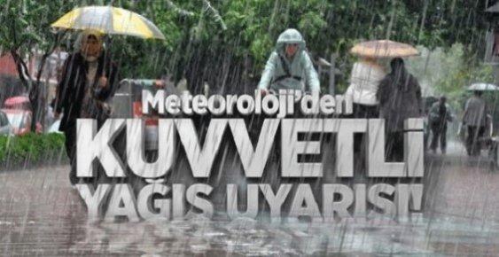 Mersin'e Sağanak Yağış Uyarısı