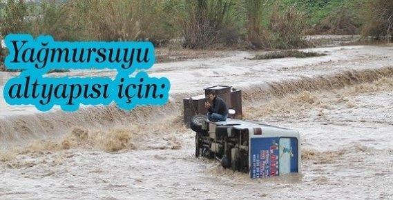 Mersin'e Yağmursuyu Alt Yapısı İçin Dev Yatırım Gerekiyor