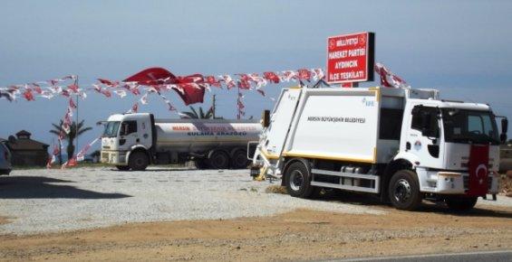 Mersinlilerin Vergileriyle Alınan Araçları MHP'nin Reklamında Kullanıyor