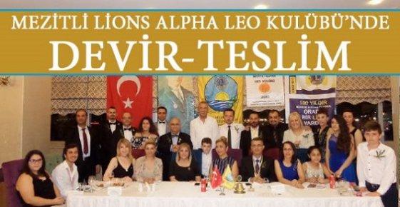 Mezitli Alpha Leo Kulübü'nde Yönetim Değişti.