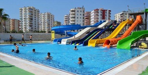 Mezitli Belediyesi Su Parkı'nda Sezon Açıldı
