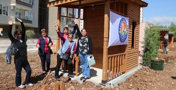 Mezitli'de Hobi Bahçesi Kura Çekimi Yapıldı
