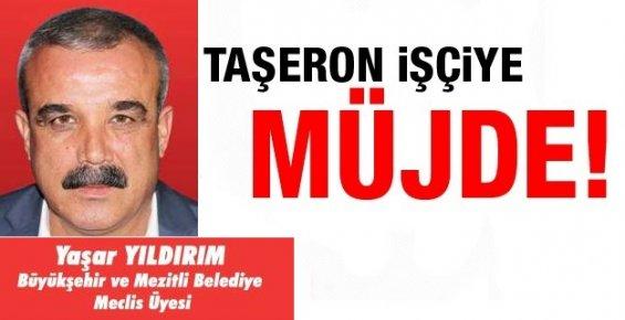 Mezitli'nin CHP'li Meclis Üyesi Taşeron İşçileri Unutmadı.