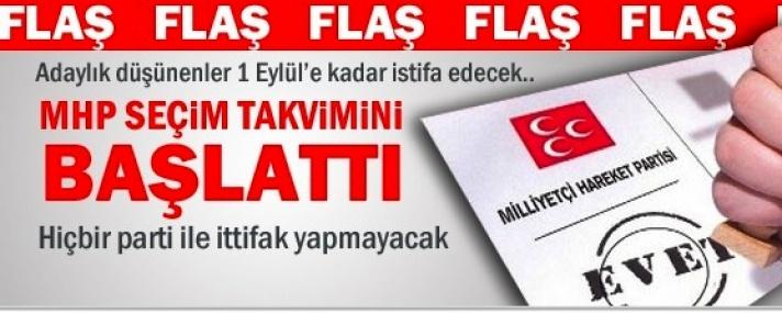 MHP Seçim Takvimini Başlattı