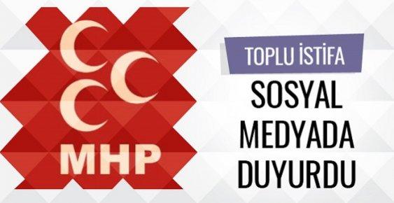 MHP'de Toplu İstifa