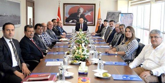 MTOSB Nisan Ayı Müteşebbis Heyet Toplantısı'na,MTOSB Başkanı Sabri Tekli de katıldı.