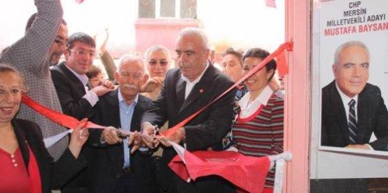 Mustafa Baysan Gülnar'da Seçim Bürosunu Açtı
