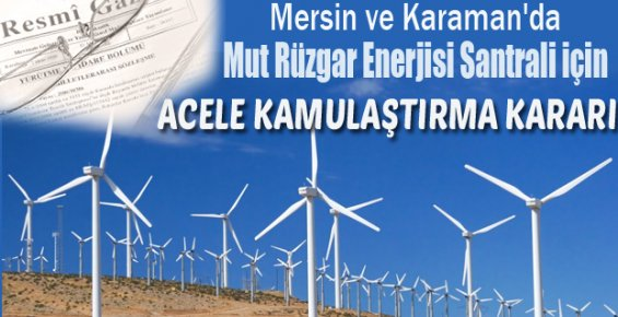 """""""Mut Rüzgâr Enerji Santrali""""nin Açılışı Yapıldı."""