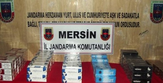 Mut'ta 2 Bin Paket Kaçak Sigara Ele Geçirildi