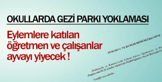 Okullara Gezi Parkı Yoklaması