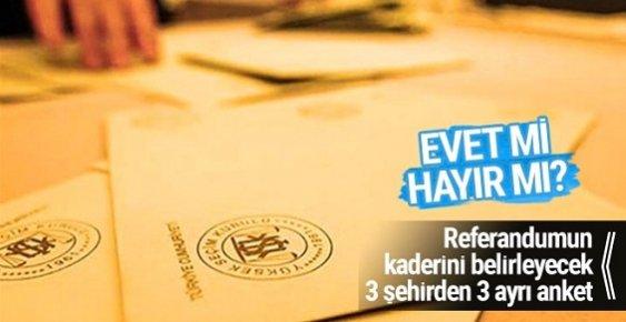 ORC Referandum Anketi Sonucu Ankara-İstanbul-İzmir Son Oylar