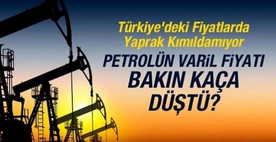 Petrolün Varil Fiyatı 29 Doların Altına Düştü