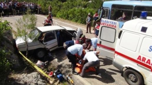 Piknik Dönüşü Kaza: 1 Ölü, 6 Yaralı