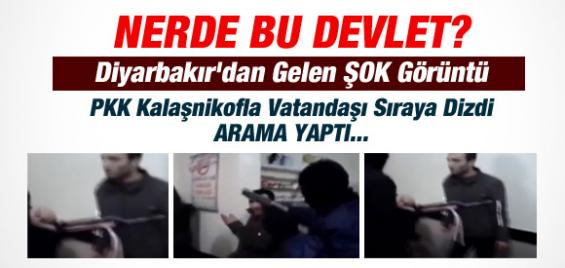PKK'dan Diyarbakır'da Kalaşnikoflu Kumar Denetimi