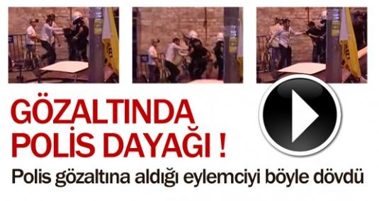 Polis Gözaltına Aldığı Eylemciyi Böyle Dövdü