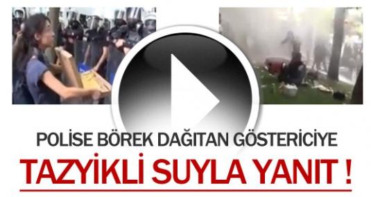 Polise Börek İkram Eden Genç Kıza Tazyikli Su