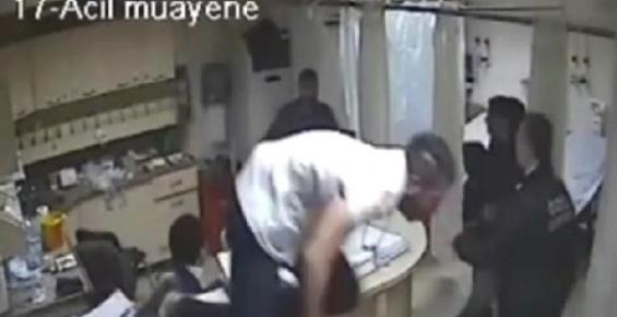 Sağlık Çalışanlarına Bıçaklı Saldırı Güvenlik Kamerasında