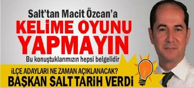 Salt: Macit Özcan'a Yolsuzluk Suçlaması