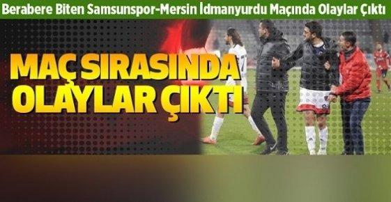 Samsunspor-Mersin İdman Yurdu Maçında Sahaya Taraftar Atladı!