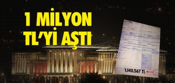 Sarayın Elektirik Faturası 1 Milyon TL'yi Aştı