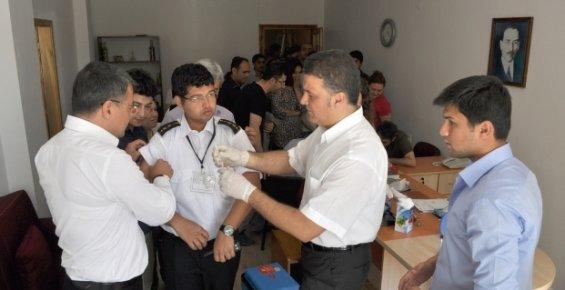 Silifke Belediyesinde Personele Tetanoz Aşısı Yapıldı.