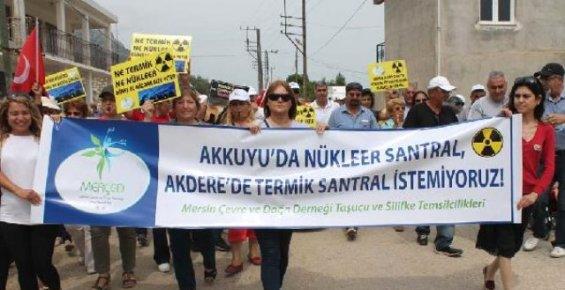 Silifke'de Termik Santral Ve Çimento Fabrikası Eylemi