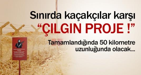 Sınırda Kaçakçılara Karşı Çılgın Proje !