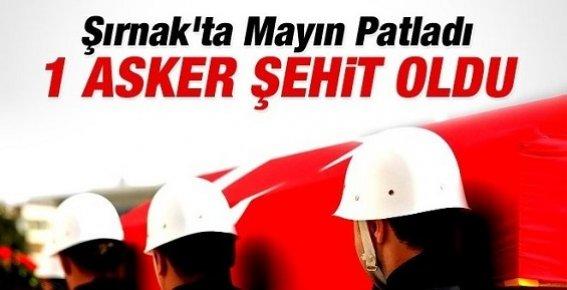 Şırnak'ta Mayın Patladı: 1 Asker Şehit Oldu
