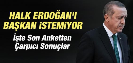 Son Ankete Göre Halk Erdoğan'ı Başkan İstemiyor