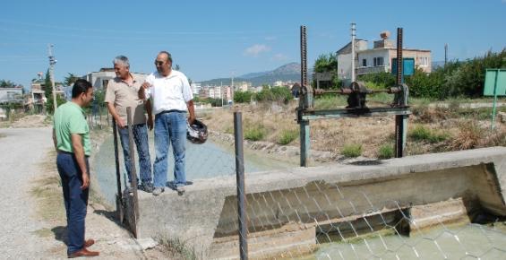 Su Kanallarına Tel Örgülü Önlem
