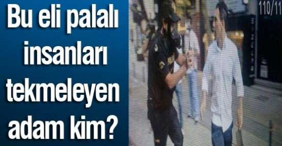 Taksim'de eli satırlı saldırgan dehşeti