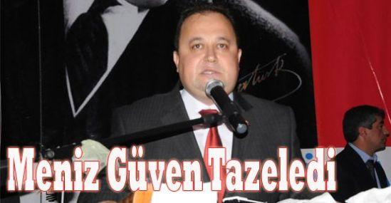 Tarsus AK Parti İlçe Başkanı Meniz, Güven Tazeledi