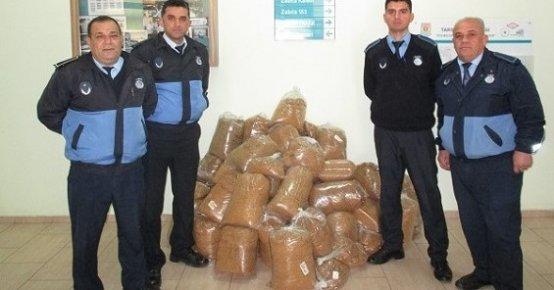 Tarsus'ta 400 Kilo Kaçak Tütün Ele Geçirildi.