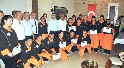 Tarsus'ta Aşçılar Sertifika Aldı