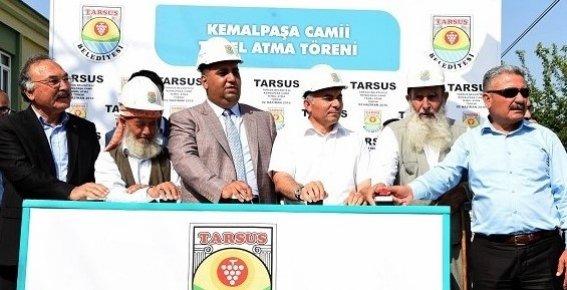 Tarsus'ta Kemal Paşa Camisi'nin Temeli, Törenle Atıldı