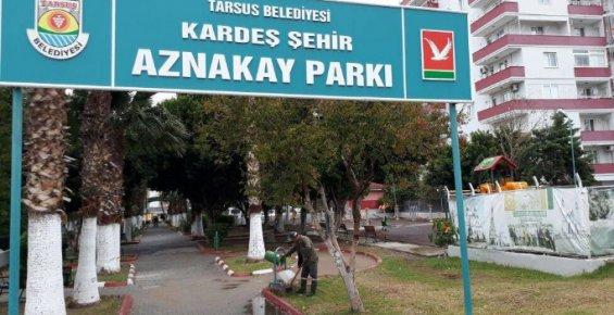 Tarsus'ta Parklar Bakım ve Onarımdan Geçirildi