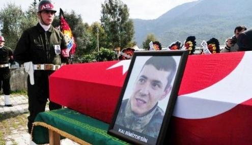 Tarsus'ta Şehit Olan Asker Memleketi Fethiye'de Toprağa Verildi