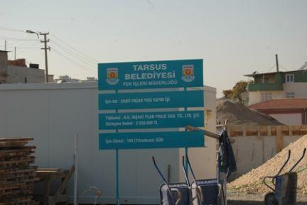Tarsus'ta Semt Pazarı İnşaatı Tüm Hızıyla Devam Ediyor.