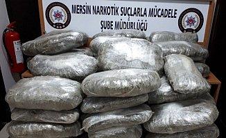 Mersin'de Kamyon Kasasında 193 Kilo Esrar Ele Geçirildi