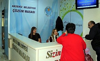 Akdeniz Belediyesi'nden Çözüm Masası Uygulaması