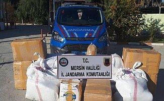 Mersin'de Kargoyla Tütün Kaçakçılığı Yapanlar Jandarmaya Takıldı
