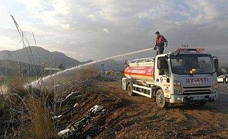 Anamur'da Sazlık Yangınları Korkuttu