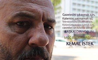 Kemal İstek, Mersin Gazeteciler Cemiyet Başkanlığına Aday