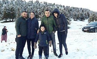 Mersin'de Vatandaşın Kar Keyfi